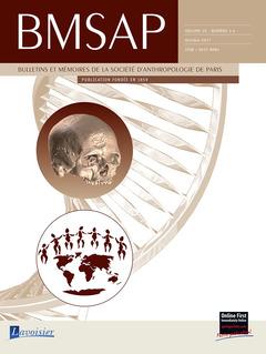 Couverture de l'ouvrage BMSAP Vol. 29 N° 3-4  Octobre 2017