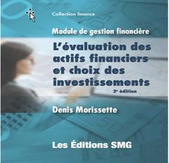 Couverture de l'ouvrage Module de gestion financière : l'évaluation des actifs financiers et choix des investissements