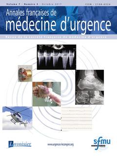 Couverture de l'ouvrage Annales françaises de médecine d'urgence Vol. 7 n°5 - Septembre-Octobre 2017