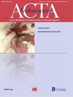 Couverture de l'ouvrage Acta Endoscopica Vol. 47 N° 5 - Novembre  2017