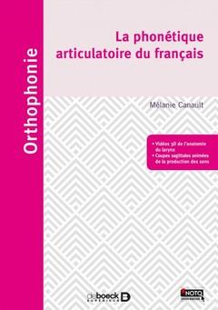 Couverture de l'ouvrage Phonétique articulatoire et phonologie