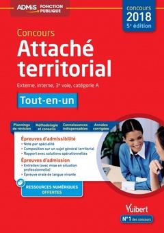 Couverture de l'ouvrage Concours Attaché territorial - tout-en-un
