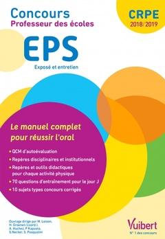 Couverture de l'ouvrage Concours professeur des écoles. EPS - Exposé et entretien