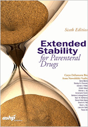 Couverture de l'ouvrage Extended Stability for Parenteral Drugs