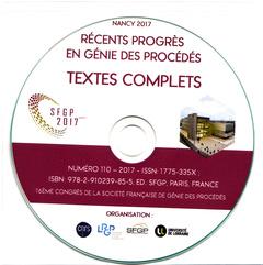 Couverture de l'ouvrage 16ème Congrès de la Société Française de Génie des Procédés (Le Génie des Procédés au Service de l'Homme)