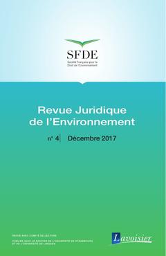 Couverture de l'ouvrage Revue Juridique de l'Environnement N° 4 - Décembre 2017