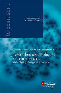 Couverture de l'ouvrage Désordres métaboliques et réanimation