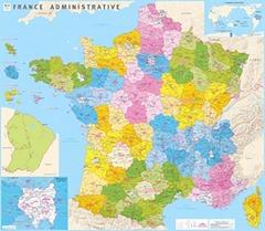 Couverture de l'ouvrage Carte de France administrative plastifiée IGN 2017 (nouvelles régions) (100 cm x 115 cm)
