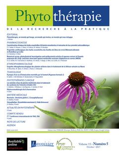 Couverture de l'ouvrage Phytothérapie. Vol. 15 N° 5 - Octobre 2017