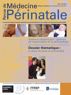 Couverture de l'ouvrage Revue de Médecine Périnatale Vol. 9 N° 4 Décembre 2017