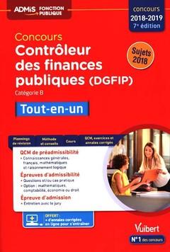 Couverture de l'ouvrage Concours contrôleur des finances publiques (DGFIP) 2018-2019