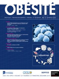 Couverture de l'ouvrage Obésité. Vol. 12 N° 4 - décembre 2017