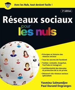 Couverture de l'ouvrage Réseaux sociaux pour les nuls