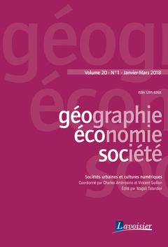 Couverture de l'ouvrage Sociétés urbaines et cultures numériques