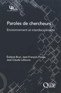 Couverture de l'ouvrage Paroles de chercheurs