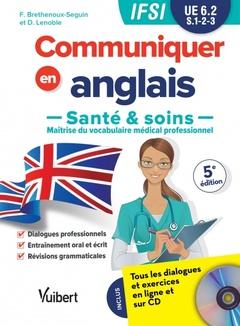 Couverture de l'ouvrage UE 6.2 Communiquer en anglais en IFSI - Santé et soins