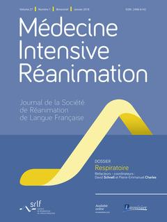 Couverture de l'ouvrage Médecine Intensive Réanimation Vol. 27 N°1 - Janvier 2018