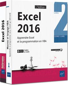 Couverture de l'ouvrage Excel 2016 - coffret de 2 livres (2° Éd.)