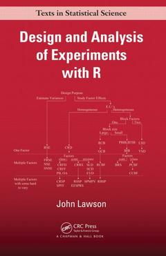 Couverture de l'ouvrage Design and Analysis of Experiments With R