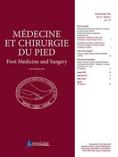 Couverture de l'ouvrage Médecine et chirurgie du pied Vol. 34 N° 1 - Mars 2018