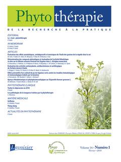 Couverture de l'ouvrage Phytothérapie. Vol. 16 N°1 - Février 2018