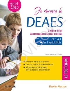 Couverture de l'ouvrage Je réussis le DEAES - Diplôme d'État Accompagnant Éducatif et Social - 2019-2020