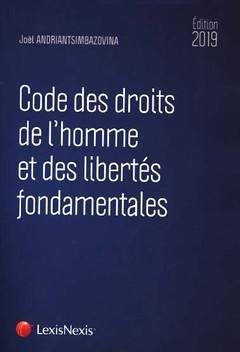 Couverture de l'ouvrage Code des droits de l'homme et des libertés fondamentales