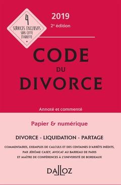 Couverture de l'ouvrage Code du divorce