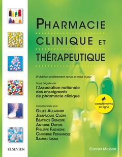 Couverture de l'ouvrage Pharmacie clinique et thérapeutique (5° Éd. entièrement revue et mise à jour) (+ compléments en ligne)