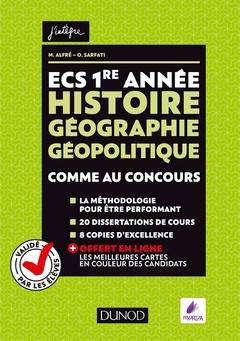 Couverture de l'ouvrage ECS 1re année - Histoire Géographie Géopolitique