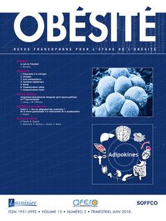 Couverture de l'ouvrage Obésité. Vol. 13 N° 2 - Juin 2018