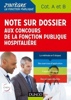 Note Sur Dossier Aux Concours De La Fonction Publique Hospitaliere