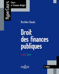 Couverture de l'ouvrage Droit des finances publiques