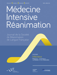 Couverture de l'ouvrage Médecine Intensive Réanimation Vol. 27 N° 3 - Mai 2018