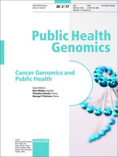 Couverture de l'ouvrage Cancer Genomics and Public Health