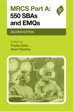 Cover of the book MRCS Part A: 500 SBAs and EMQs