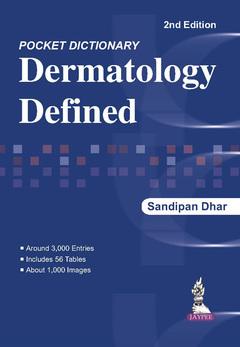 Couverture de l'ouvrage Pocket Dictionary Dermatology Defined