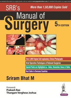 Couverture de l'ouvrage SRB's Manual of Surgery