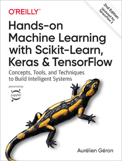 Cover of the book Hands-on Machine Learning with Scikit-Learn, Keras and TensorFlow