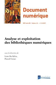 Couverture de l'ouvrage Analyse et exploitation des bibliothèques numériques