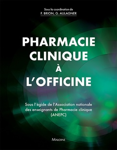 Couverture de l'ouvrage Pharmacie clinique à l'officine