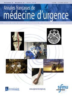 Couverture de l'ouvrage Annales françaises de médecine d'urgence Vol. 8 n° 4 - Août 2018