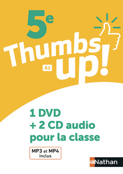 Couverture de l'ouvrage Thumbs up! 5e - coffret cd+dvd -2018
