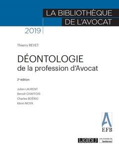 Couverture de l'ouvrage Déontologie de la profession d'avocat