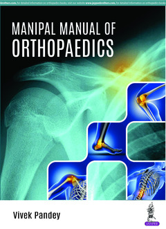 Couverture de l'ouvrage Manipal Manual of Orthopaedics
