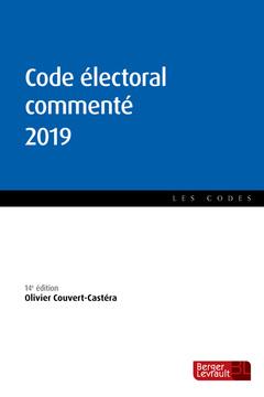 Couverture de l'ouvrage Code électoral commenté