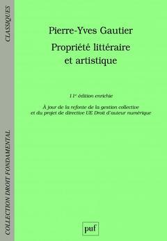 Couverture de l'ouvrage Propriété littéraire et artistique