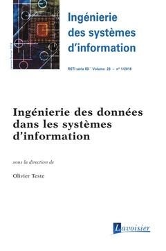 Couverture de l'ouvrage Ingénierie des systèmes d'information RSTI série ISI Volume 23 N° 1 - Janvier-Février 2018