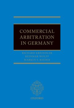 Couverture de l'ouvrage Commercial Arbitration in Germany