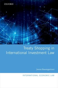 Couverture de l'ouvrage Treaty Shopping in International Investment Law